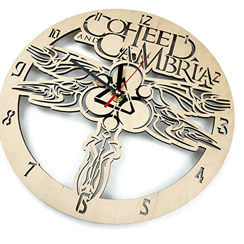 ShareArt Coheed and Cambria Silent Wood Wall Clock – Original Home Office Living Room Bedroom Kitchen Decor – Best Birthday Gift for Friends Men Woman – Unique Wall Art Design – Size 12 Inch