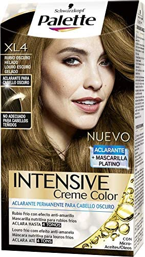 Palette Intense - Tono XL4 Rubio Oscuro Helado - 2 uds - Coloración Permanente - Schwarzkopf