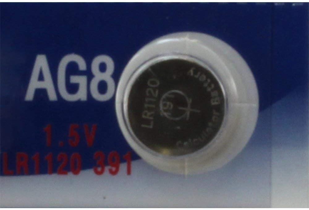 191 1169A LR1120 LR1121 10 391 V8GA G8 AG8 LR55 GP91A or L1121 Alkaline Batteries D191A