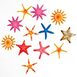 US Toy Design Plastic Starfish Action Figure (Lot of 12), Assorted Color
