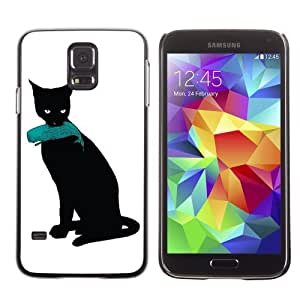Designer Depo Hard Protection Case for Samsung Galaxy S5 / Cat & Whale