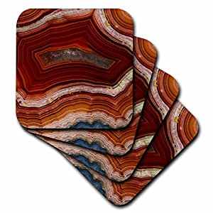 Danita Delimont - Abstract - Banded Agate, rust colored - set of 8 Coasters - Soft (cst_231721_2)