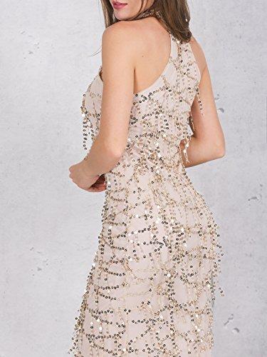 Oro Vestito Bridemaid Paillettes Berrygo Maxi Donne Da Delle Promenade Elegante Nappa wxvqSp