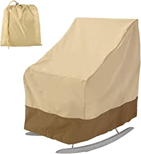 Patio Chair Covers Waterproof, Heavy Duty 420D Outdoor Rocking Chair Cover Lounge Seat Cover Furniture Protector(28