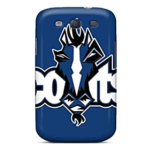 Shock Absorption Hard Phone Cover For Samsung Galaxy S3 (kWK1822joPu) Support Personal Customs Realistic Indianapolis Colts Pattern
