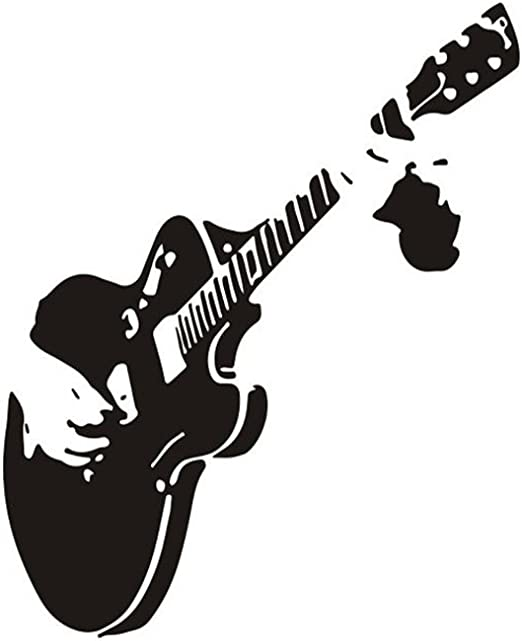 Aikesi Pegatinas Decorativas Pared en Guitarra Etiqueta de Pared ...