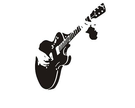 Wa 1 Unids Guitarra Sofá Fondo de Pantalla de la Pared Decoración Creativa Extraíble
