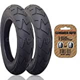 2 x MAXI COSI MURA Suitable Stroller / Push Chair / Buggy FRONT Tires to fit - 10'' x 1.75 - 2.00 + FREE Shipping + FREE Upgraded Skyscape Metal Valve Caps (Worth $4.99)