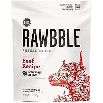 BIXBI Rawbble All-Natural Freeze Dried Dog Food, Beef, 14 oz