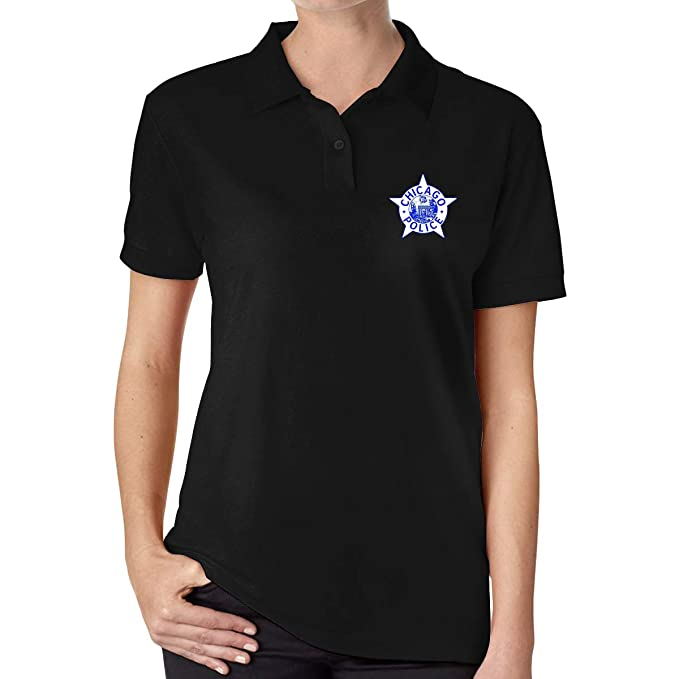 UP LUCK GoNewBee Chicago Police Women Premium Office Polo Shirt ...