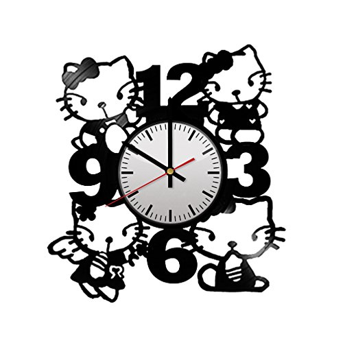 Hello Kitty Handmade Design Vinyl Wall Clock