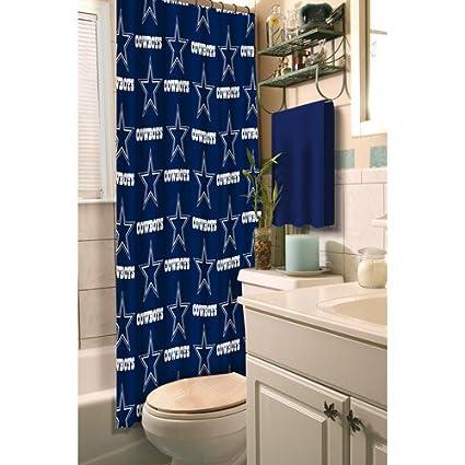 Amazon Com Dallas Cowboys Decorative Bath Collection Shower Curtain