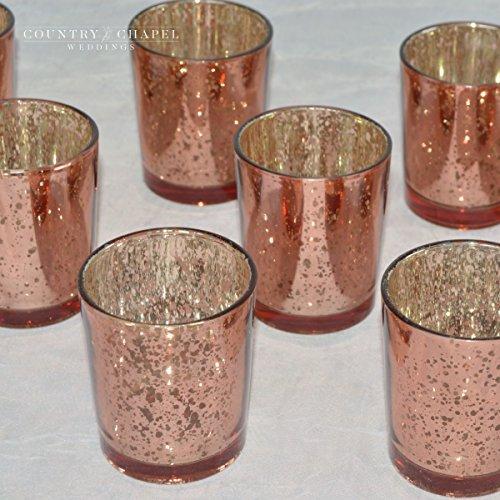 - Country Chapel Blush Mercury Glass Votive Candle Holders ~ Blush Candle Holder ~ Mercury Glass Votive for Weddings ~ Blush Votive ~ Pink Candle Holder (12)