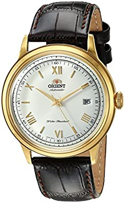 Orient Men's '2nd Gen. Bambino Ver. 2' Japanese Automatic Stainless Steel and Leather Dress Watch from Orient