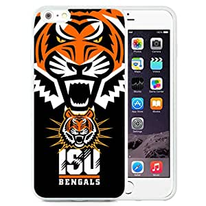 Beautiful Designed With NCAA Big Sky Conference Football Idaho State Bengals 3 Protective Cell Phone Hardshell Cover Case For iPhone 6 Plus 5.5 Inch White