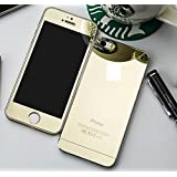 Delhi Traderss Golden Mirror Front + Back Tempered Glass Screen Protector for Apple iPhone 5/5s