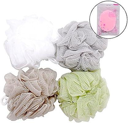 Esponja de Baño, Kapmore 4+1 Pack Esponja de Baño Suave Esponja de Ducha Esponja de Ducha Esponja de Jabón Puff Peeling Esponja: Amazon.es: Belleza