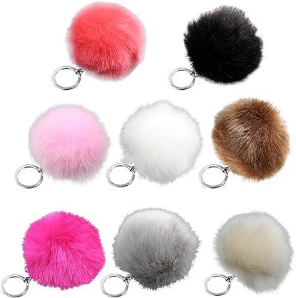 Fluffy Pompon Fur Ball Keychain Car Bag Pendant Keyring Accessories Gift Decor