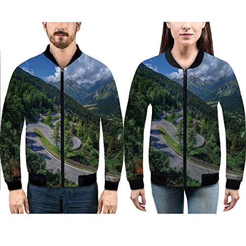 iPrint Lovers Jacket Slim Flight Bomber Jacket for His and Hers