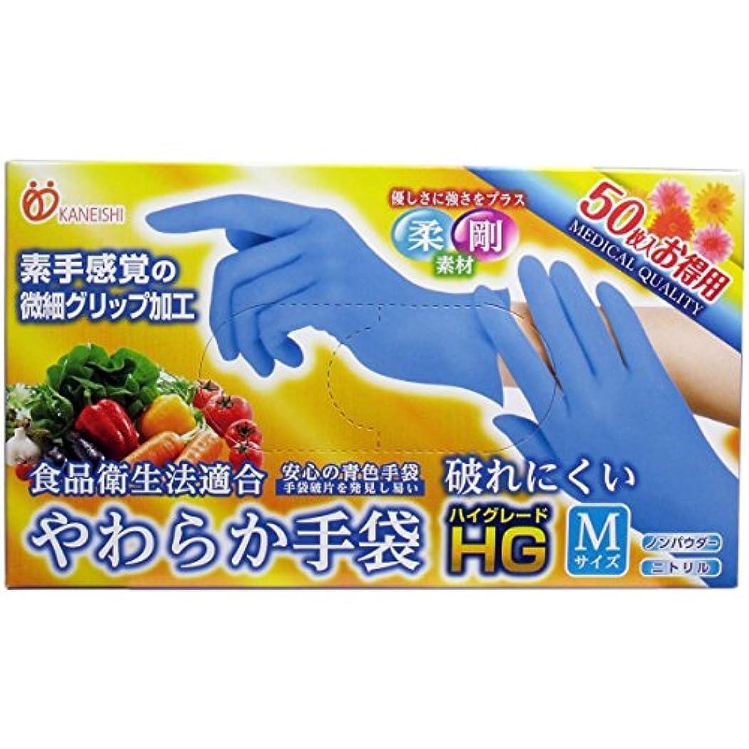 同情的反映するシャッターやわらか手袋 HG(ハイグレード) スーパーブルー Mサイズ 50枚入