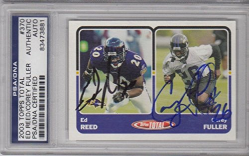 08466578b53 Ed Reed Corey Fuller Baltimore Ravens Signed AUTOGRAPH 2003 Topps Total -  PSA DNA Certified - Football Slabbed Autographed Cards