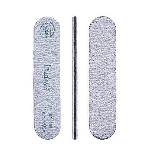 Iridesi Mini Zebra Nail File 100 180 Emery Boards 3.5 Inches Long By .75 Inches Wide Fingernail Filers Per Pack ()