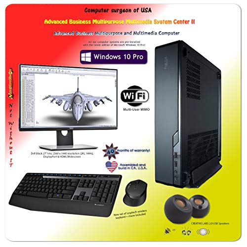 (Not Without IT: Multipurpose Business Computer Bundle | Intel 9th CPU i7-9700K 3.6 GHz |32 GB DDR4|512 GB Samsung M.2 Hard Drive|2K Display|MSI NVIDIA 8 GB|Windows 10 Pro|Small case!)