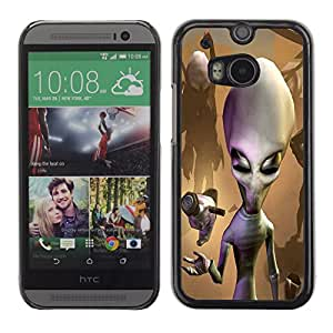 - Skull Devil Diablo Extraterrestrial - - Monedero pared Design Premium cuero del tir¨®n magn¨¦tico delgado del caso de la cubierta pata de ca FOR HTC M8 One 2 Funny House