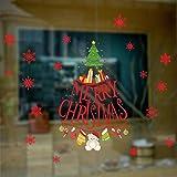 Snowflakes Merry Christmas Tree Vinyl wall sticker Decals Window decor Shop Decoration
