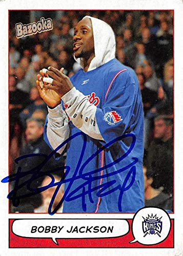 Bobby Jackson autographed Basketball Card (Sacramento Kings) 2005 Topps Bazooka #25 - NFL Autographed Football Cards
