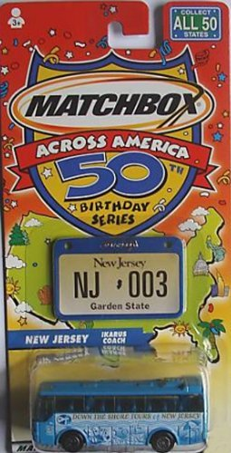 Matchbox Across America 50th Birthday Series New Jersey Ikarus Coach