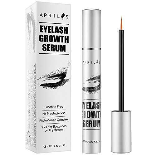 Eyelash & Eyebrow Growth Serum 7.5 ml, High Potency Enhancer for Naturally Longer, Fuller & Thicker Eyelashes & Eyebrows, Regrows and Prevents Thinning Breakage and Fallout