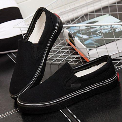 casual a Scarpe pedali scarpe tendenza tela di scarpe piatte Color basse Black YaNanHome Brown Scarpe 42 semplici stile da uomo Size coreano Espadrillas xnXPwAqv4