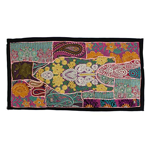 (Vintage Embroidered Patchwork Traditional Living Room Beautiful Head Board Decorative Fine Art Bedroom Design Home Decor Indian Wall Hanging Tapestry)