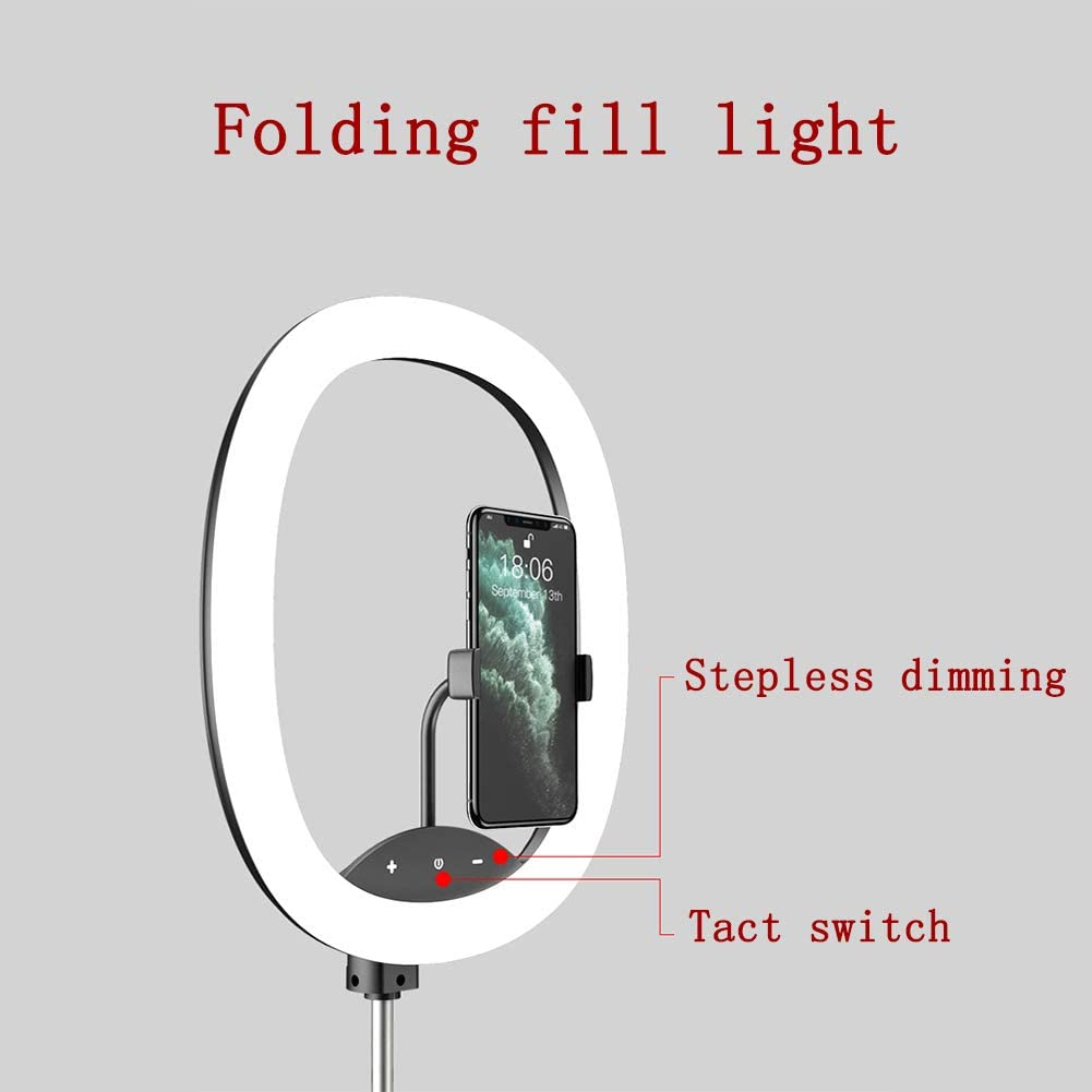 YAYONG Folding Fill Light Live Support Fill Light Outdoor Portable Anchor Beauty Lamp Rechargeable