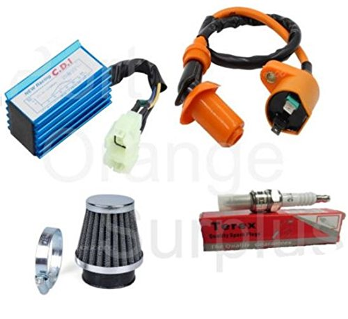 Performance AC CDI Ignition Coil Spark Plug Air Filter PD24J Gy6 50cc-150cc by Hotstreet