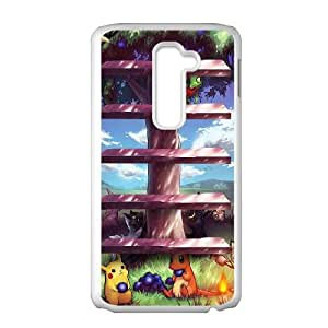 Pokemon Tree Shelves LG G2 Cell Phone Case White Pretty Present zhm004_5956349
