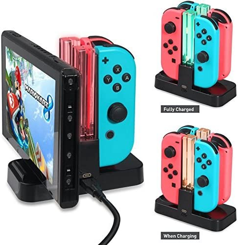 Nintendo Switch Controller Charger , Joy-con Charging Dock with ...