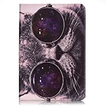 SZYT Tablet Case for Apple iPad Mini 4, 7.9 inch, with Card Slot Cat with Glasses