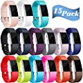 Maledan Replacement Bands Compatible For Fitbit Charge 2 15 Pack Large