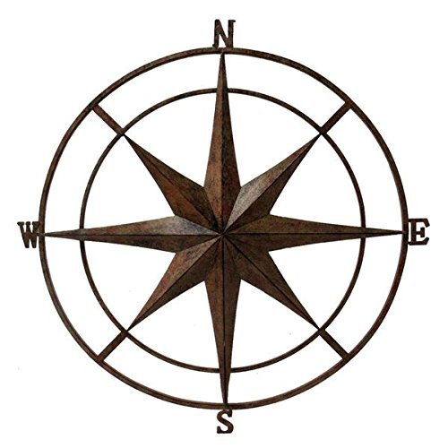 Backyard Expressions 906440 Wall Compass, Gold
