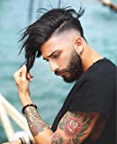SinoArt Men's Hairpiece Human Hair Toupee Wig Super Thin Skin Hair Replacement Hair Color Can by Dyed (Natural Color)