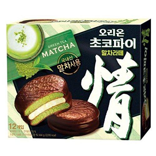 orion-choco-pie-green-tea-matcha-latte-flavor-12-packs