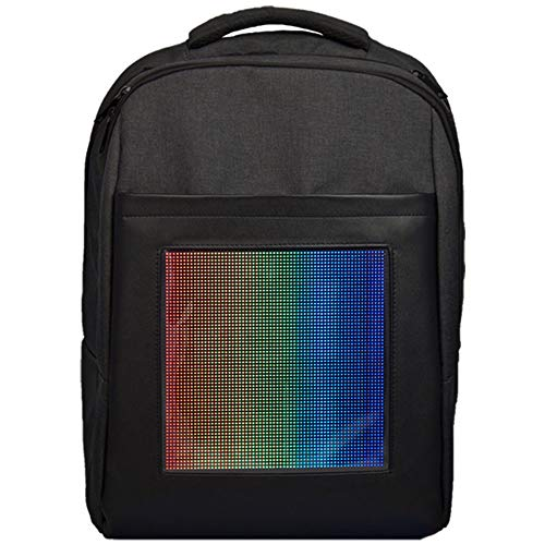 Animated Color - Memebag LED Backpack Bag Laptop Smart Interactive Light Custom Animated Bag with WiFi Wireless Android iOS App