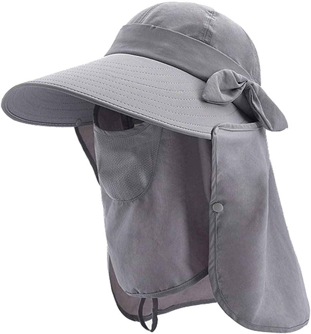 Women Removable Sun-Visor-Hats Quick-Dry Fishing - Hat Face Mask Protection