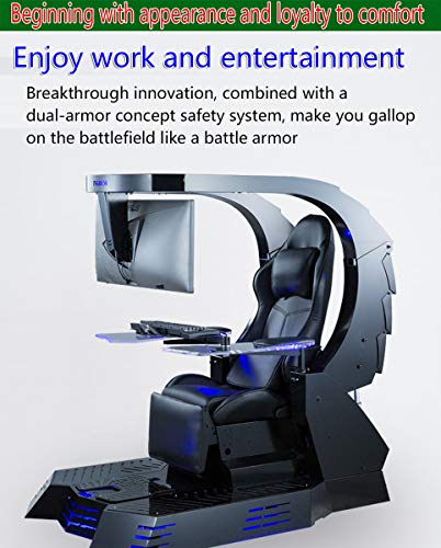 YUYTIN Computer Cockpit Anchor e-Sports Space Capsule Fat House Happy Chair Internet Cafe Game Office All-in-one Computer Chair,B1