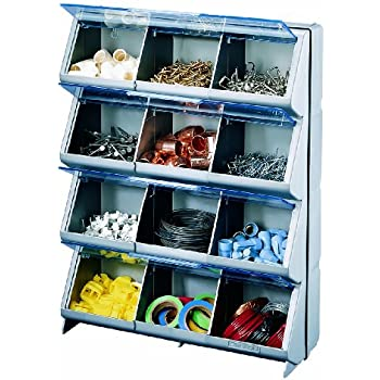 Stack-On CB-12 Clear View 12-Bin Organizer