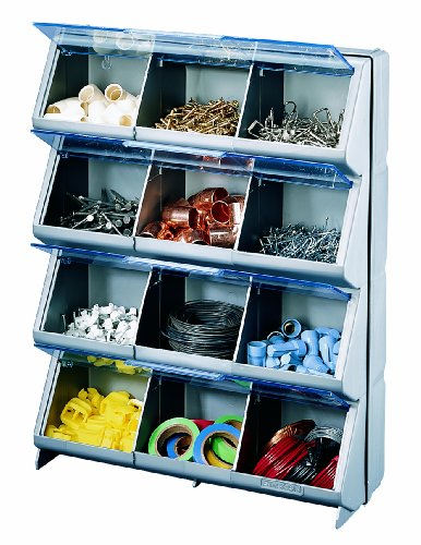 Stack-On CB-12 Clear View 12-Bin Organizer (Cabinet Bin Wall)