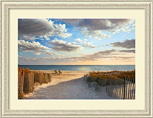 Framed Art Print, 'Sunset Beach' by Daniel Pollera: Outer Size 44 x 34