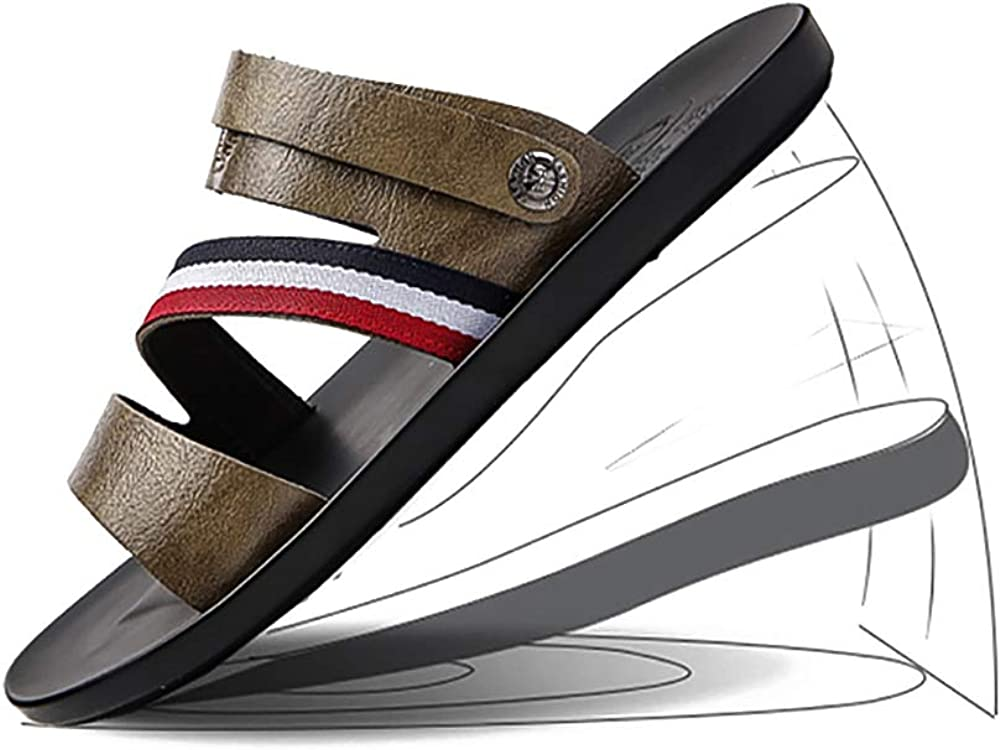 Non-Slip Waterproof Slide Sandals Beach Shower Slippers Arched Support KTOL Casual Mens Sandal Summer